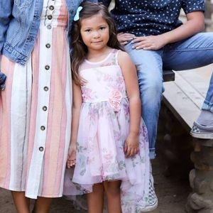 Little Girls High-Low Floral Dress
